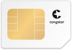 SIM-Karte mit Logo von congstar