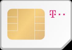 SIM-Karte mit Logo von Telekom
