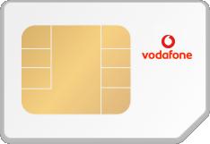 SIM-Karte mit Logo von Vodafone
