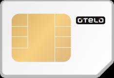 SIM-Karte mit Logo von otelo