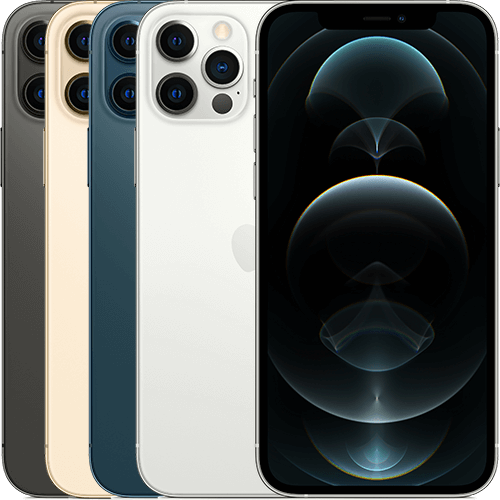 Aktionsgerät iPhone 12 Pro in verschiedenen Ansichten