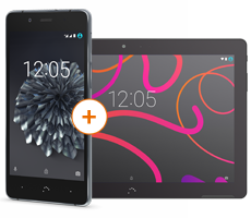 BQ Aquaris X5 Plus mit BQ Aquaris M10 LTE Tablet