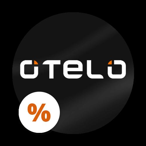 otelo Logo mit Prozentzeichen