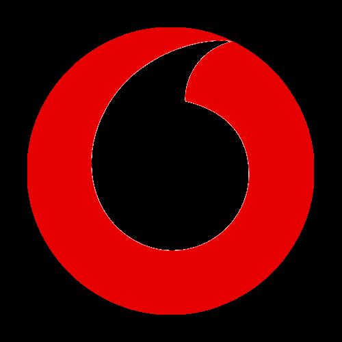 Vodafone Logo mit Prozentzeichen