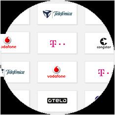 Verschiedene Logos der Netzbetreiber