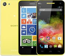 Handys in gelb in der Übersicht
