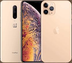 Handys in gold in der Übersicht