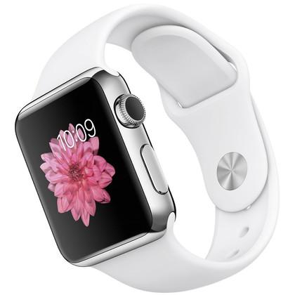 apple watch edelstahl 38 mm mit vertrag telekom vodafone o2 congstar otelo blau. Black Bedroom Furniture Sets. Home Design Ideas