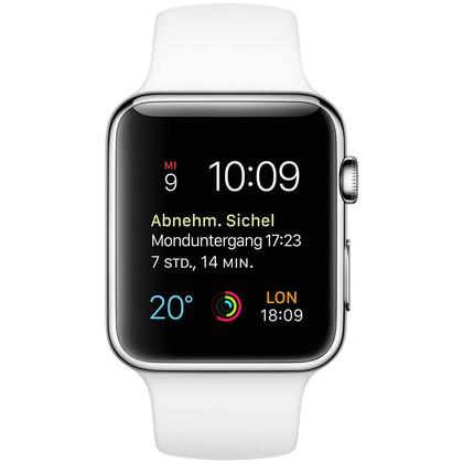 apple watch edelstahl 42 mm mit vertrag telekom vodafone o2 congstar otelo blau. Black Bedroom Furniture Sets. Home Design Ideas