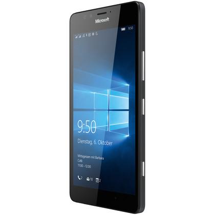 microsoft lumia 950 dual sim 32 gb schwarz mit vertrag telekom vodafone o2 base congstar. Black Bedroom Furniture Sets. Home Design Ideas