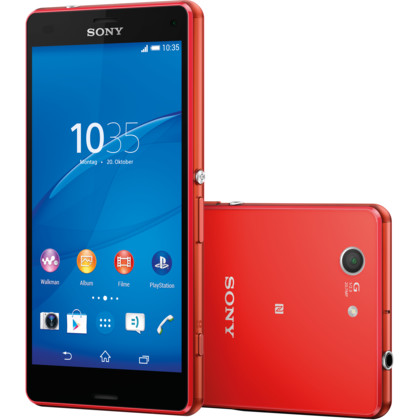 sony xperia z3 compact 16 gb mandarinrot mit vertrag. Black Bedroom Furniture Sets. Home Design Ideas