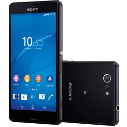 sony xperia z3 compact 16 gb schwarz mit vertrag telekom. Black Bedroom Furniture Sets. Home Design Ideas
