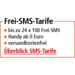Bis zu 24 x 100 Frei-SMS bei o2, T-Mobile oder E-Plus